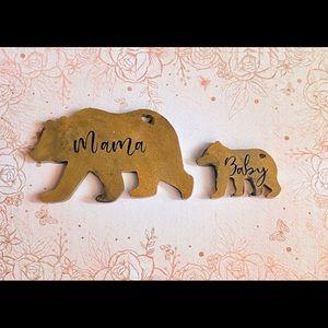 Mama and Baby Bear keychain